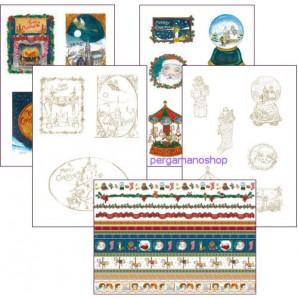 Perkamentpapier victoriaanse kerstavond 62588