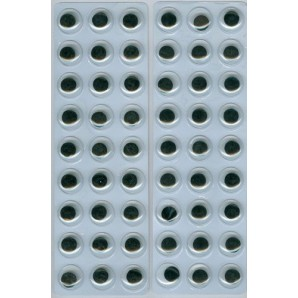 Wiebelogen rond zwart wit zelfklevend 12mm 54 st