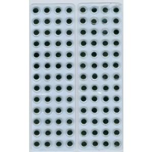Wiebelogen rond zwart wit zelfklevend 8mm 104 st
