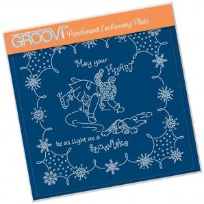 Groovi Plate A5 LINDA'S CHILDREN - WINTER - BOY ICE SKATING