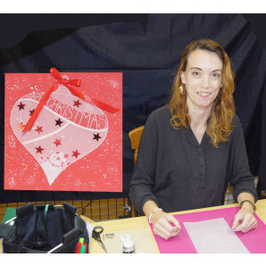 Workshop kerstkaart met kerstbal van perkamentpapier