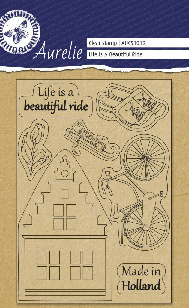 Aurelie Clear stamps Made in Holland | Pergamanoshop.nl: https://pergamanoshop.nl/aurelie-clear-stamp-life-is-a-beautifull-ride.html