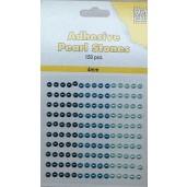 Plakparels / Adhesive gems blauw aqua 4 mm