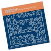 Groovi Plate A6 TINA'S RECTANGLE FLOWER PARCHLET