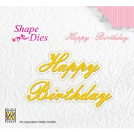 Nellies Choice Shape Die - ENG - Happy Birthday SD095
