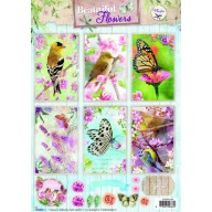 Studio Light Knipvellen 10vel A4 Beautiful Flowers 1368 STAPBF1368 (new 05-16)