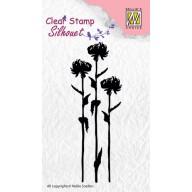 Nellie's Choice Clearstamp - flower 7 SIL004