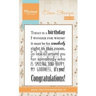 Marianne D Stempel Song Today is a birthday (EN) CS0965 (New 03-16)