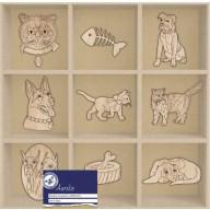 Aurelie Houten Ornamenten Cats & Dogs