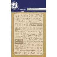 Aurelie embossing folder Christmas Sentiments  Background