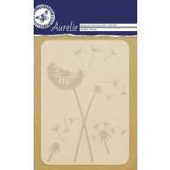 Aurelie embossing folder Dandelion Whisper Background