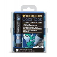 Chameleon Color Tops Blue Tones