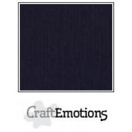 CraftEmotions linnenkarton 10 vel zwart 27x13,5cm 250 grams