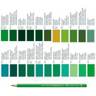 Faber Castell Polychromos kleurpotlood per stuk  groen tinten