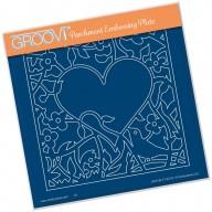 Groovi Plate  BIRD HEART SPRIG     A5