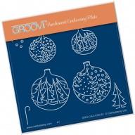 Groovi Plate A6 CHRISTMAS TREE BAUBLES