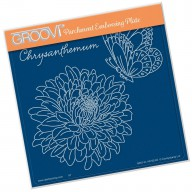 Groovi Plate Chrysanthemum & Butterfly