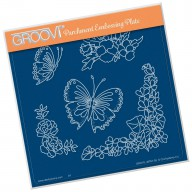 Groovi Plate Frilly Square Friends