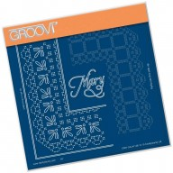 Groovi Grid Piercing Plate A5 MARY LACE FRAME CORNER DUET