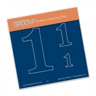 Groovi Plate A6 Open Number 1