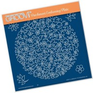 Groovi Plate Floral Moon Floral Circle