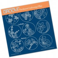 Groovi Plate  Linda's 123 Sampler E: Butterfly, Lavender & Mallow A5