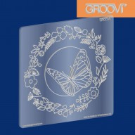 Groovi Plate Butterfly Wreath