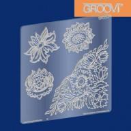 Groovi Plate Wall Flowers