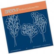 Groovi Plate A6 Trees 40926