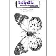 IndigoBlu Stamp Big Butterfly mounted A6