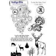 IndigoBlu Stamp Looks like rain, Dear A5