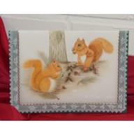 Janneke's Parchment Design, Kerstkaart Eekhoorns