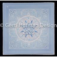 Gerti Hofman Design, blauwe vierkante kaart sterbloem SB07