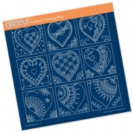 LINDA'S HEART SAMPLER   A4 square