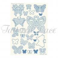 Parchment Lace Parchment Grid 2 Butterflies