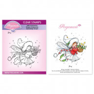 CLEAR STAMP A6  CHRISTMAS POPPETS - PRU