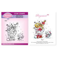 CLEAR STAMP A6  CHRISTMAS POPPETS - PUD