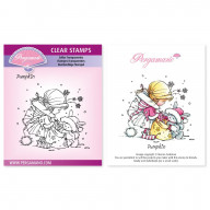 CLEAR STAMP A6  CHRISTMAS POPPETS - PUMPKIN