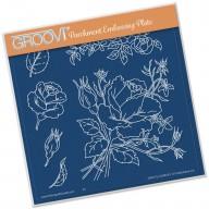 Groovi Plate Jayne's Roses