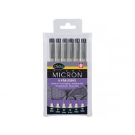 Set 6 Zentangle pigma micron fineliners