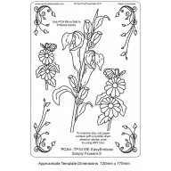 PCA EasyEmbossing Template Simply Flowers 8 TP3418E