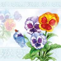 CraftEmotions servetten 5st - Aquarell viooltjes 33x33cm Ambiente 13309335