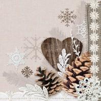 CraftEmotions servetten 5st - Winter nature 33x33cm Ambiente 13309570