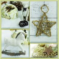 CraftEmotions servetten 5st - Kerst decoratie 33x33cm Ambiente 33310660