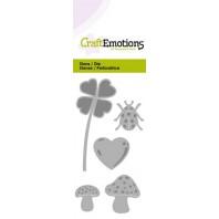 CraftEmotions Die - geluk symbolen Card 5x10cm (09-16)