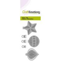 CraftEmotions Die - kerstballen Card 5x10cm (07-16)