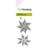 CraftEmotions Die - bloem kerstster 3D Card 5x10cm (07-16)
