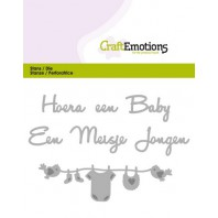 CraftEmotions Die Tekst - Hoera een baby (NL) Card 11x9cm (09-16)