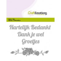 CraftEmotions Die Tekst - Hartelijk bedankt (NL) Card 11x9cm (09-16)
