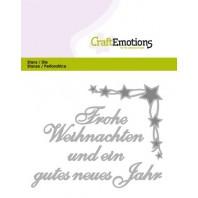 CraftEmotions Die Text - Frohe Weihnachten (DE) Card 11x9cm (07-16)